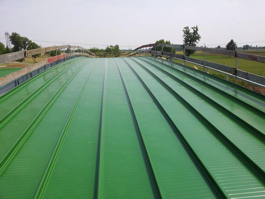 copertura metallica per casello autostrada Brebemi cafaro coperture