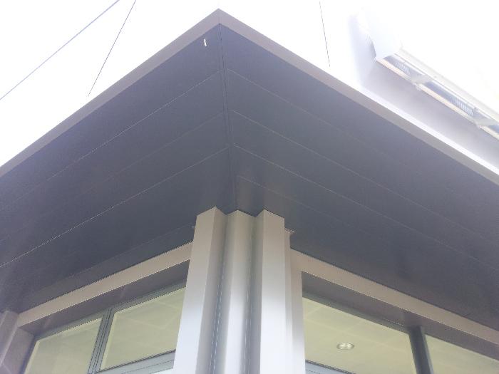 rivestimento parete con pannelli tipo trespa
