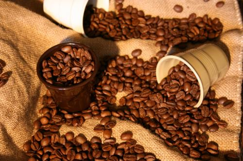 caffè in grani e capsule