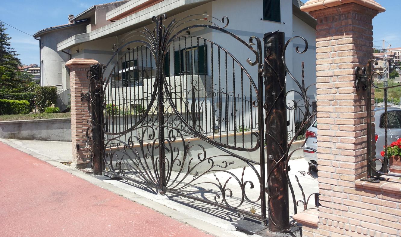 Cancello Artistico Arte Ferro a Monteodorisio Chieti