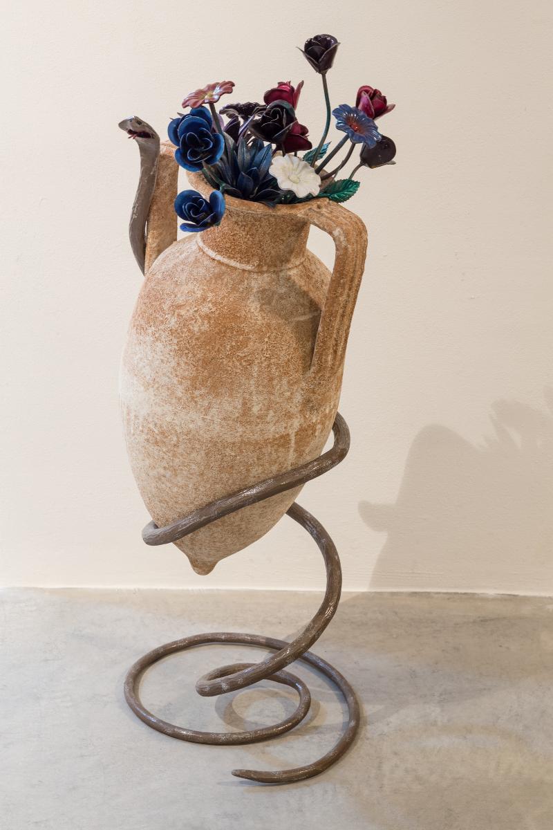 Vaso con Sottovaso in ferro Arte Ferro a Monteodorisio Chieti