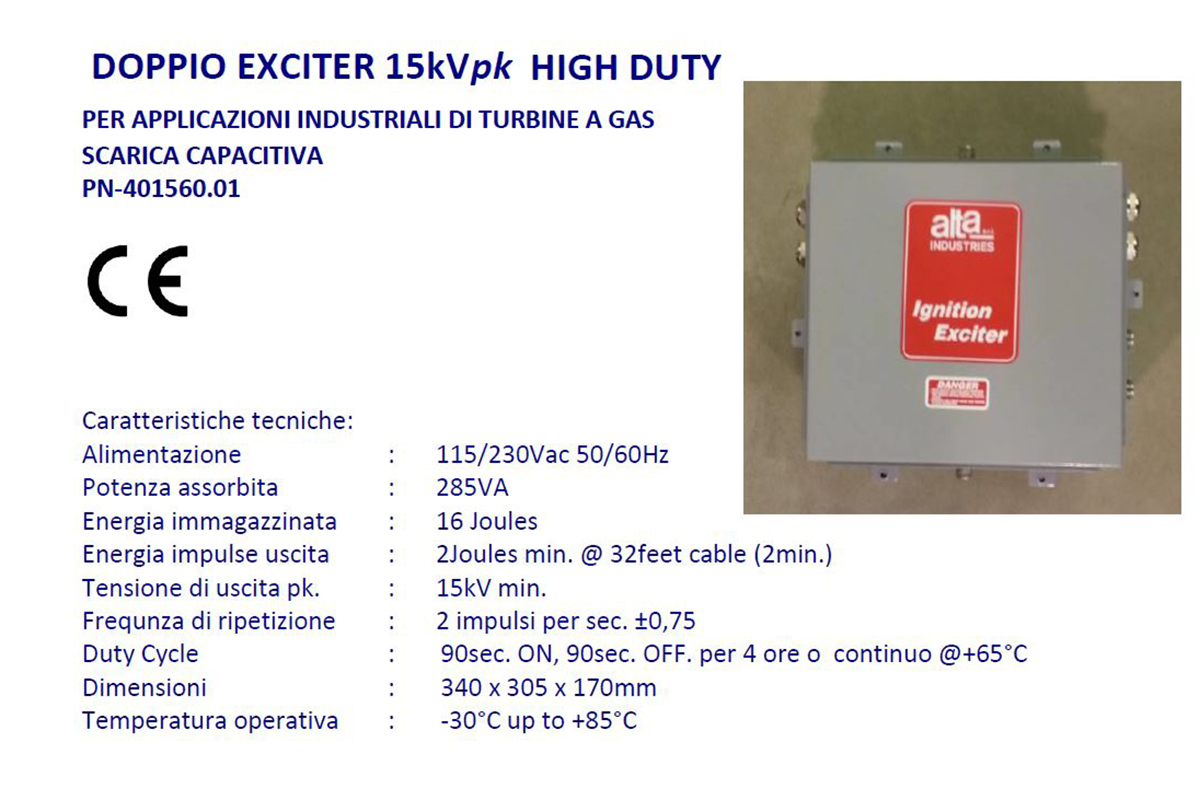 Doppio Exciter 15kVpk High Duty Alta Industries srl a Scandicci Firenze