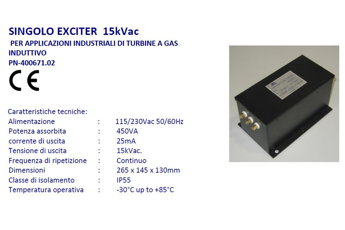 Singolo Exciter 15kVac Alta Industries srl a Scandicci Firenze