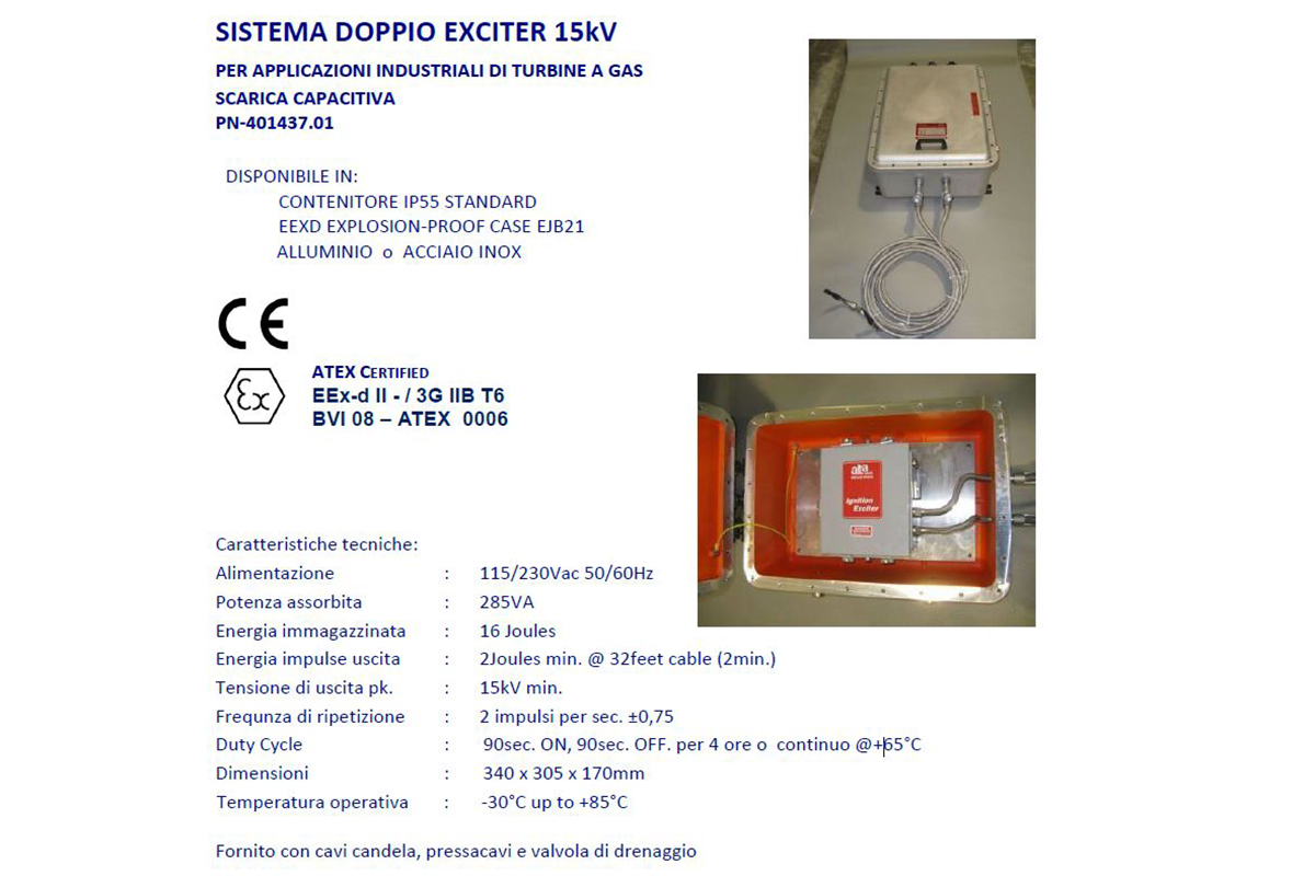 Sistema Doppio Exciter 15kVpk Alta Industries srl a Scandicci Firenze
