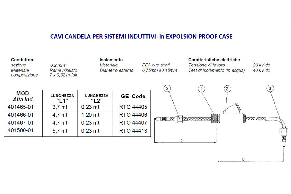 Cavi Candela per Sistema Induttivi in Expolsion Proof Case Alta Industries srl a Scandicci Firenze