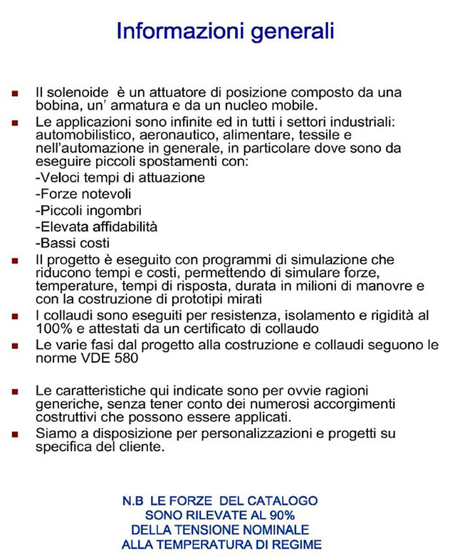 Solenoidi Modelli DS Solenoidi Modelli DS Alta Industries srl a Scandicci Firenze