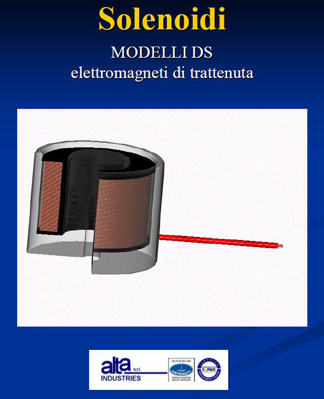 Solenoidi Modelli DS Alta Industries srl a Scandicci Firenze