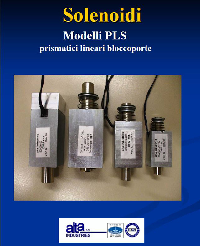 Solenoidi Modelli PLS Alta Industries srl a Scandicci Firenze