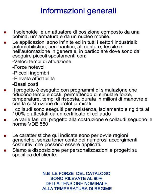Solenoidi Modelli PLS