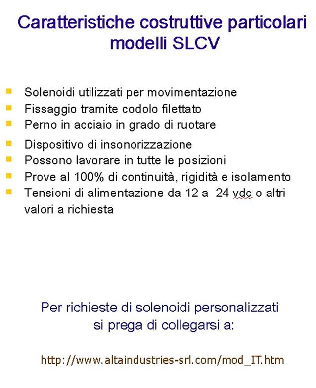 Solenoidi Modelli DB Alta Industries srl a Scandicci Firenze