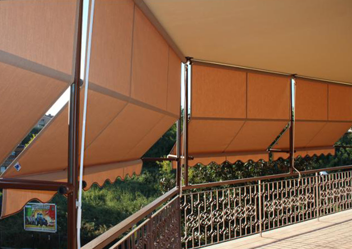 tenda a guide verticali roma monteverde