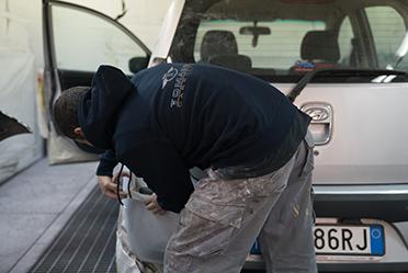 verniciatura auto carrozzeria tomassini roma trastevere