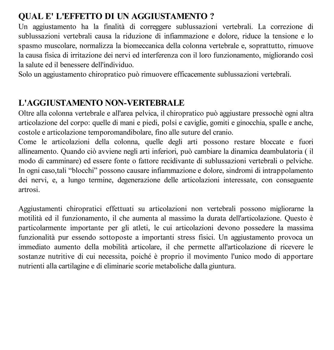 Trattamenti Chiropratico U.S.A a Como