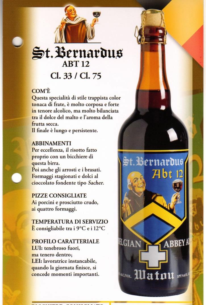 Birra St. Bernardus Luppolo e Farina Roma Eur Montagnola