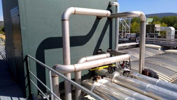 Piping uscita scambiatori di calore primario e secondario