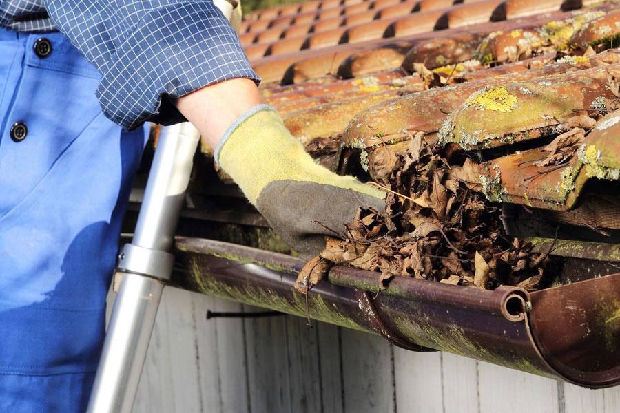 Coperture / tetti – pulizia canali di gronda