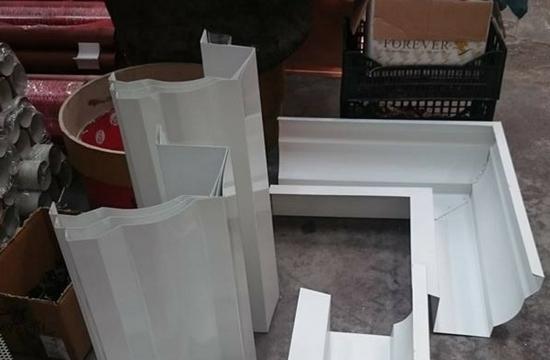 Pezzi speciali alluminio bianco