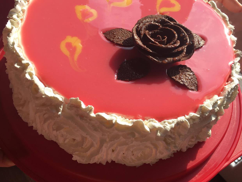 Rosa al cioccolato