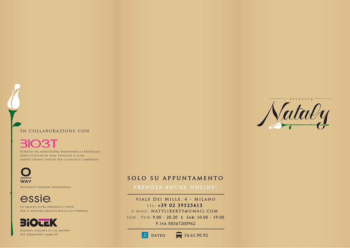 Listino Prezzi Estetica Nataly a Milano