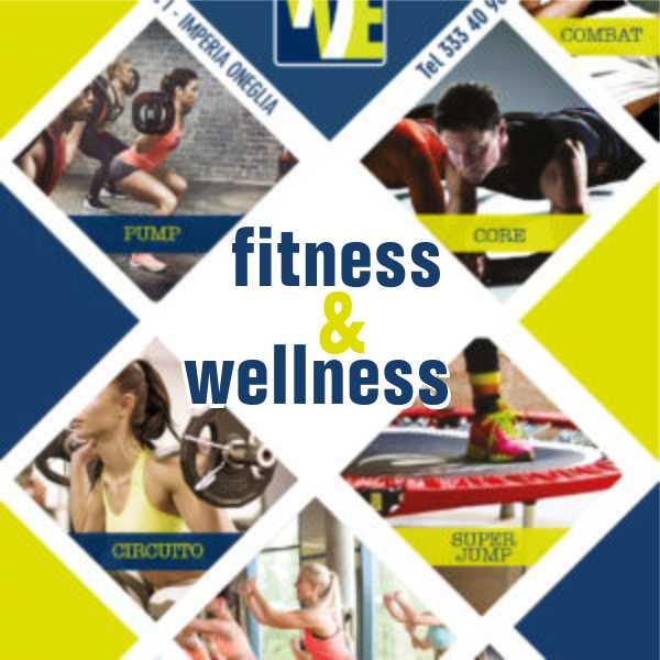 sala fitness e sala pesi ed è possibile effettuare Body Pump, Circuito funzionale, Ginnastica posturale, Zumba, Step, Pilates, Yoga, Super Jump, Spinning, Spinning virtuale, Rieducazione, Sala Cardio. Imperia