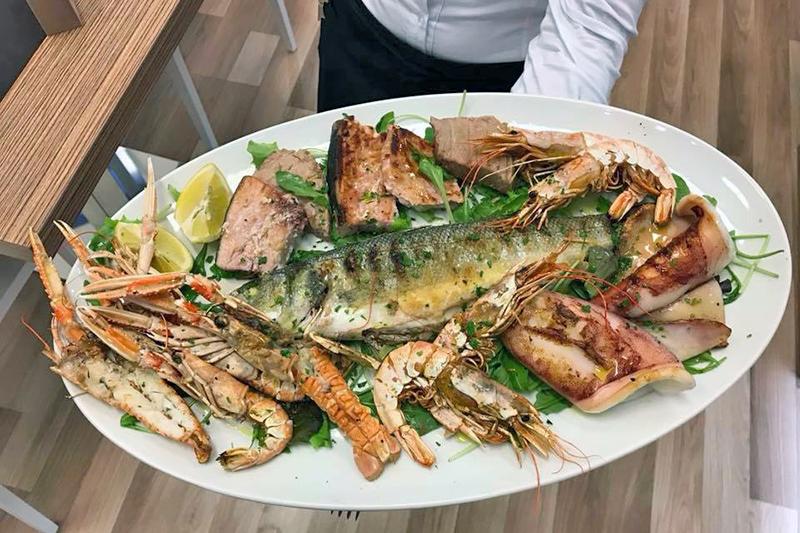 ristorante con menu di mare Sassari