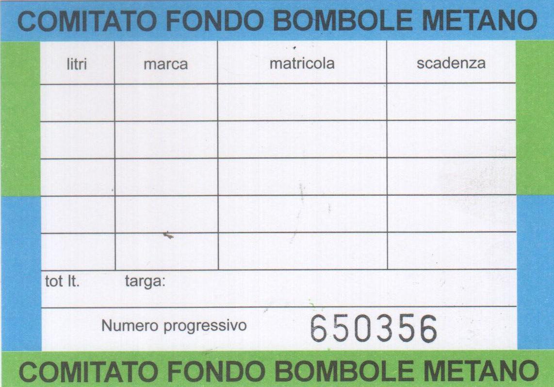 Certificato Bombole a Metano