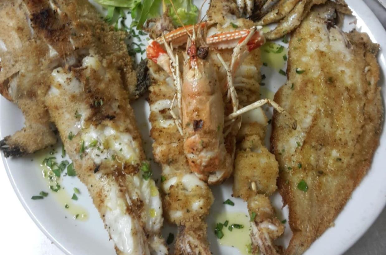 ristorante menù di pesce