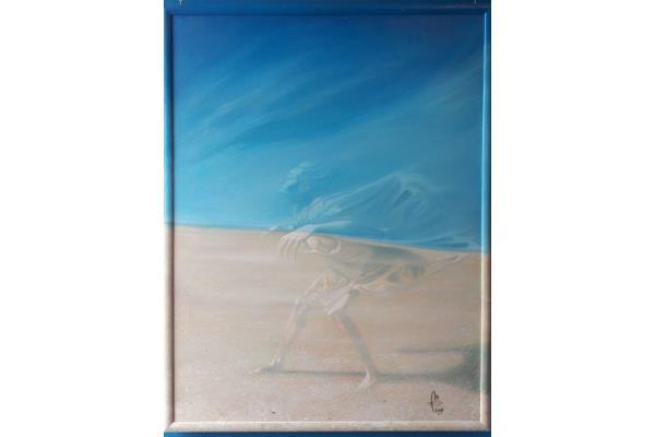 dipinto su tela donna invisibile