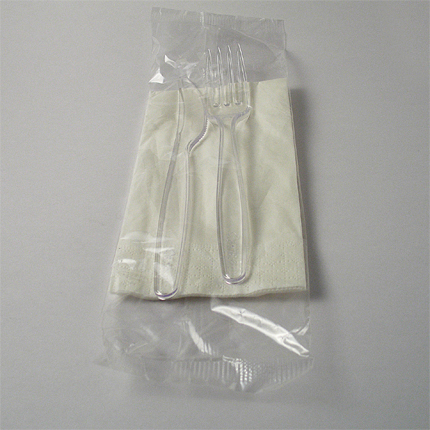 Bis posata trasparente 6 gr + tovagliolo 2 veli Paperplast a Sesto San Giovanni Milano