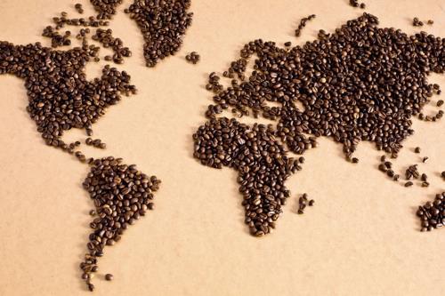 Mappa mondo con Caffè Gus Caffè a Roma
