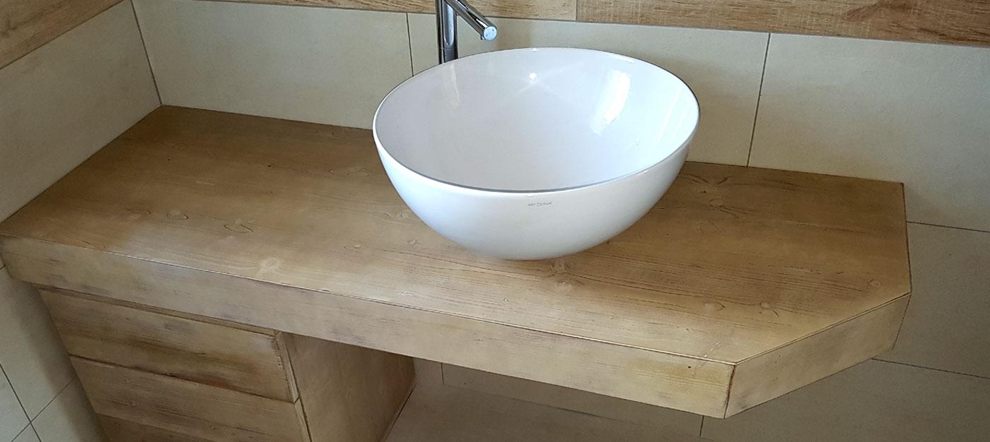 arredo bagno in legno bs