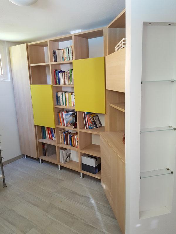 libreria in legno pregiato brescia