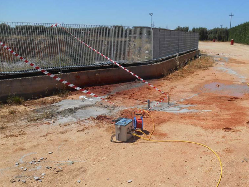 Indagine geoelettrica in foro