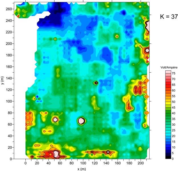 Indagine geoelettrica su una superficie pari a 60000 mq