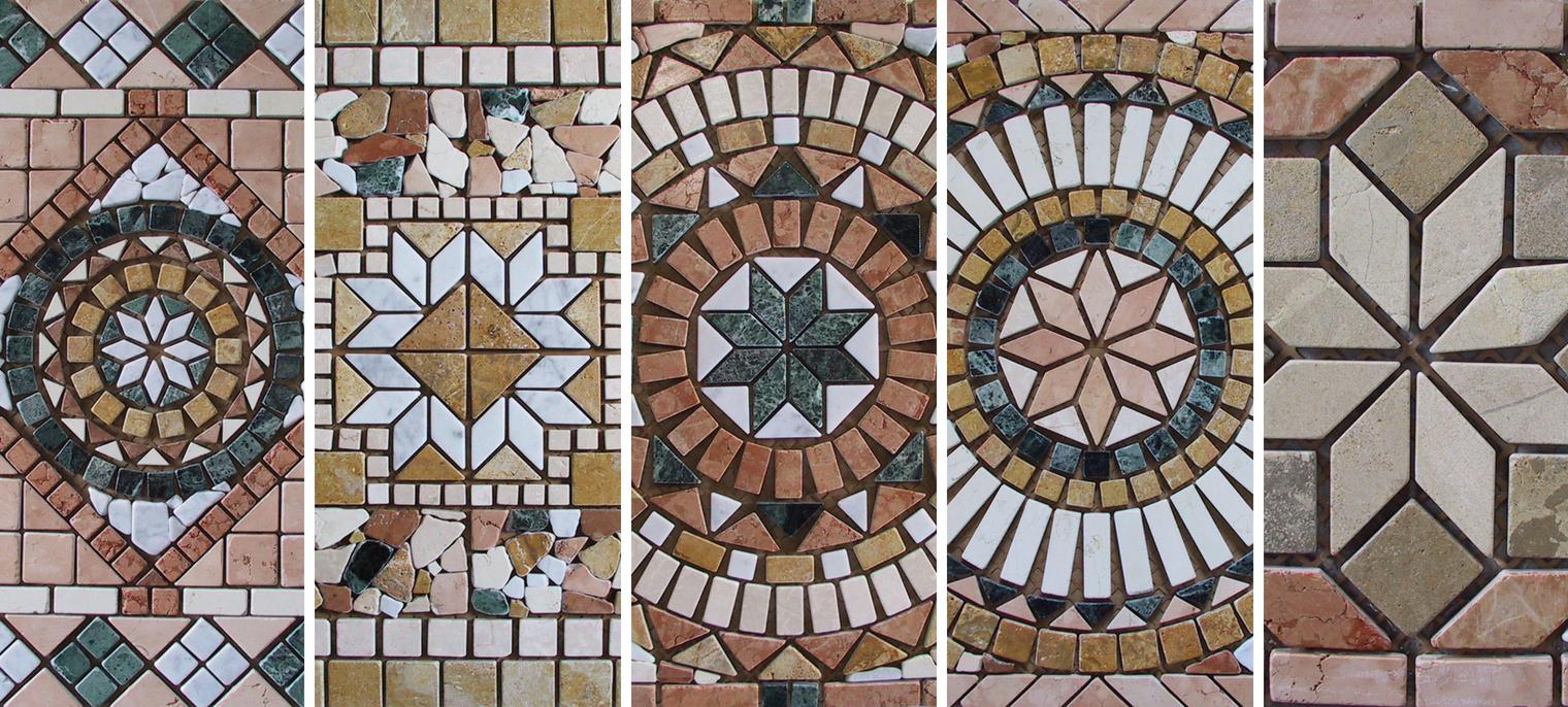 mosaico e rosoni aprilia