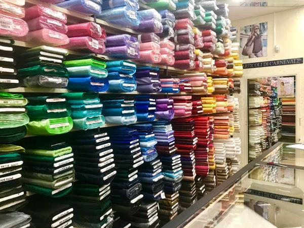 negozio di tessuti storico catania