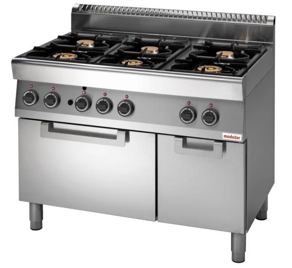 Cucina a Gas 6 Fuochi Con Forno - Modular