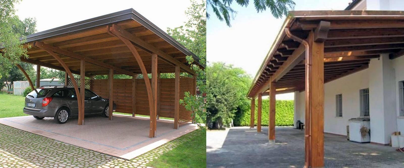 Pavimentazione giardino in legno
