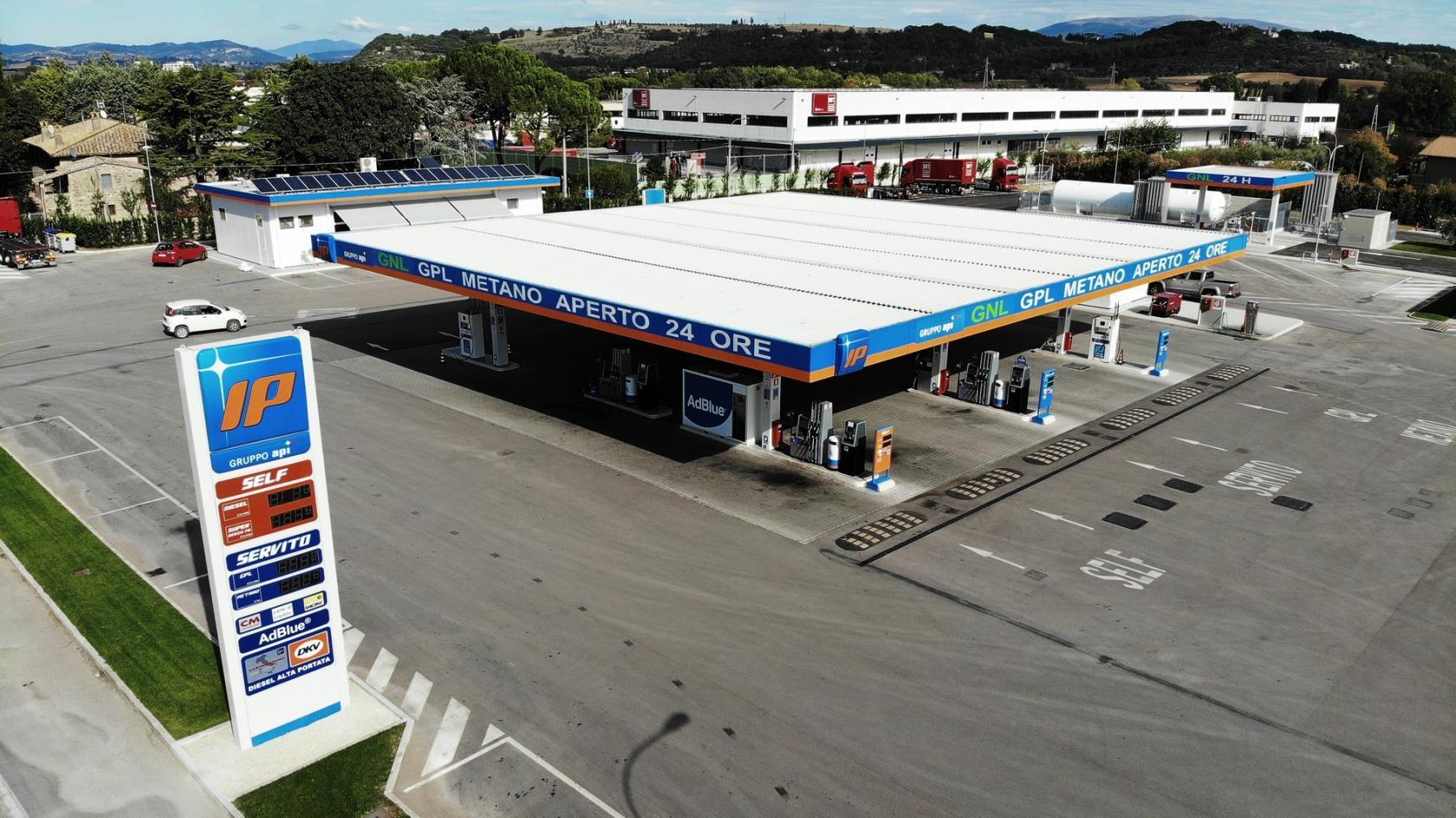 distributori metano H24 Perugia