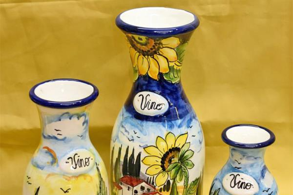caraffe in ceramica fiorentina Firenze