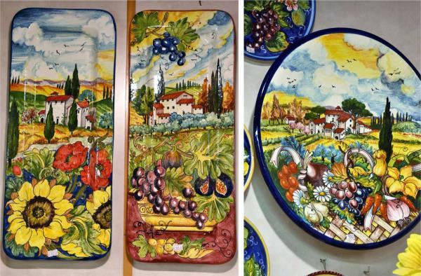 artistic Florentine ceramic plates, Florence
