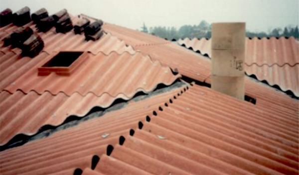 Tetto in copertura metallica Dalmine Bergamo
