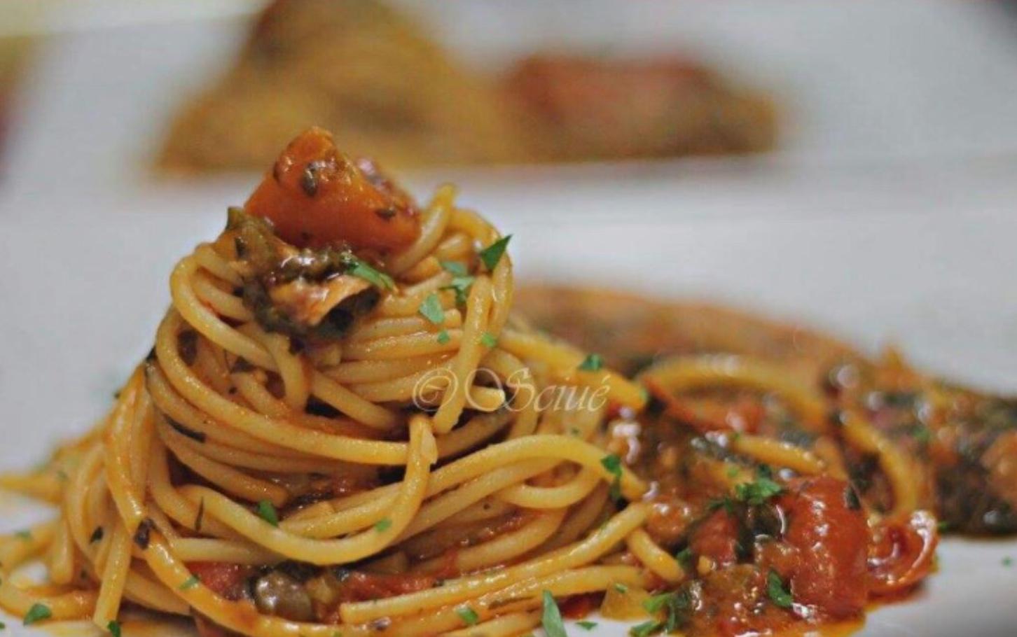 Primo piatto di pesce Ristorante Sciuè Milano