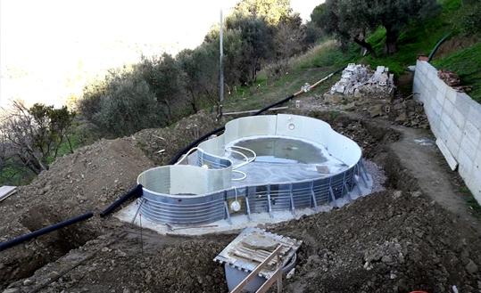 fasi di realizzazione piscina