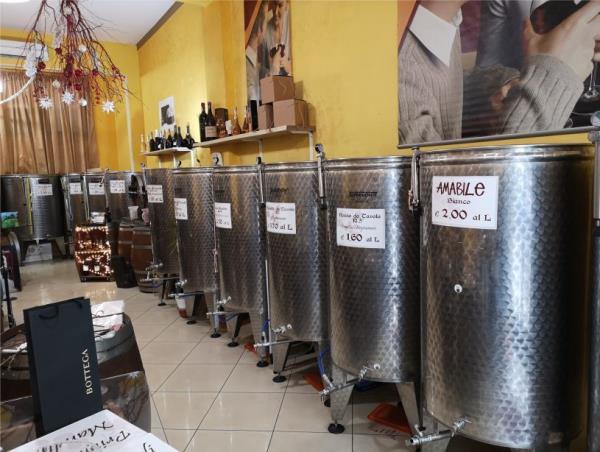 cisterne vino sfuso casa del primitivo bari