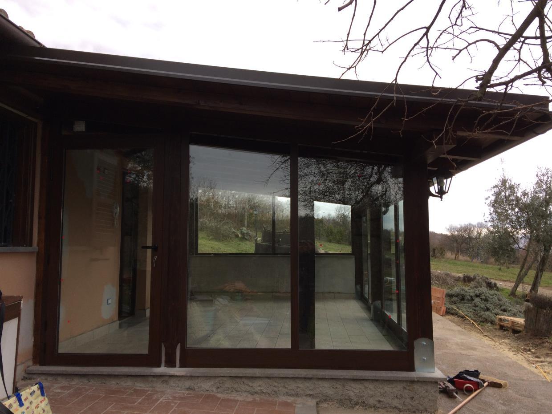 Chiusura verande in legno Viterbo