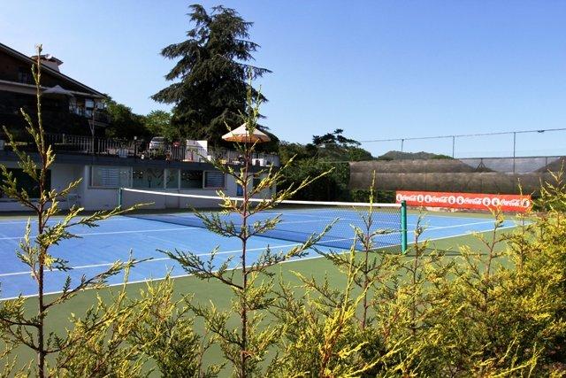 Vista campo da tennis