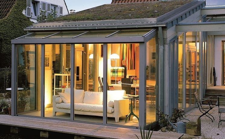 Progettazione veranda esterna