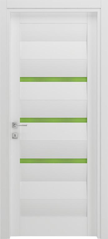 Porta bianca e verde