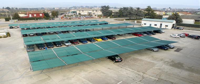 Sistemi di copertura auto e parcheggi